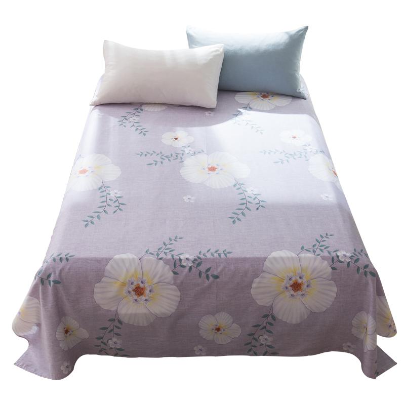 南极人纯棉床单单件1.2m学生宿舍床单1.5/1.8米双人全棉床单