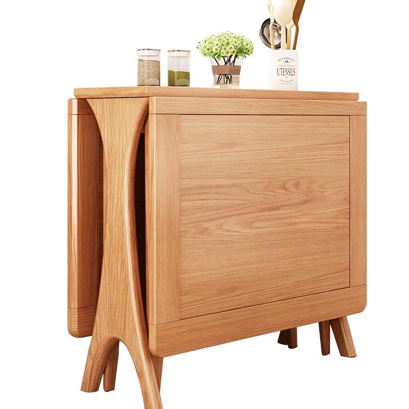 实木餐桌折叠北欧简约现代餐桌椅组合小户型变形饭桌子设计师家具