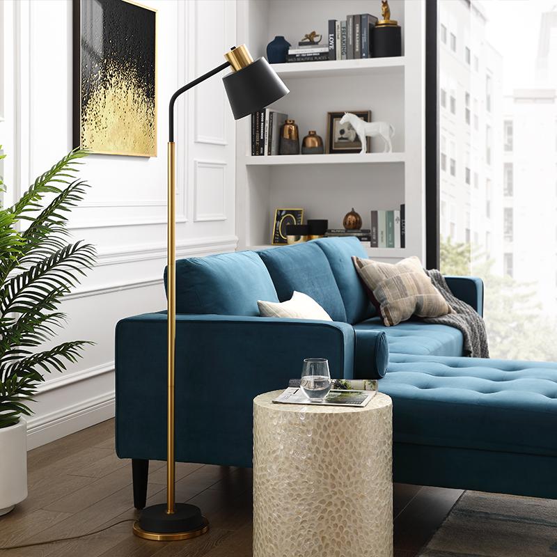 落地灯客厅北欧卧室书房美式简约后现代立式阅读落地台灯 登对