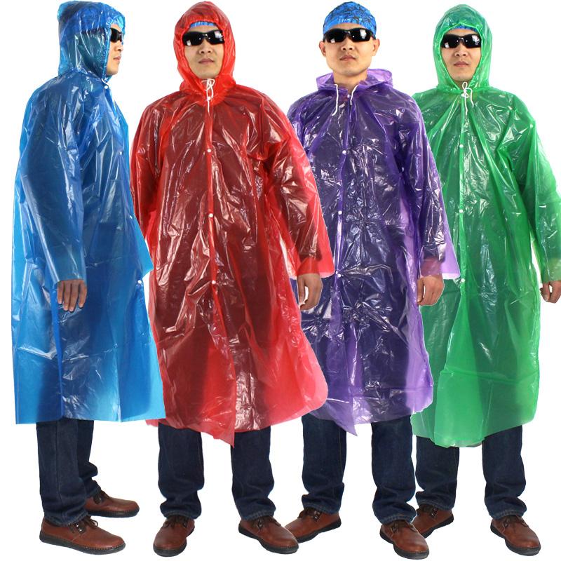 透明一次性雨衣加厚户外雨衣登山徒步雨披男女士儿童带帽雨衣旅游