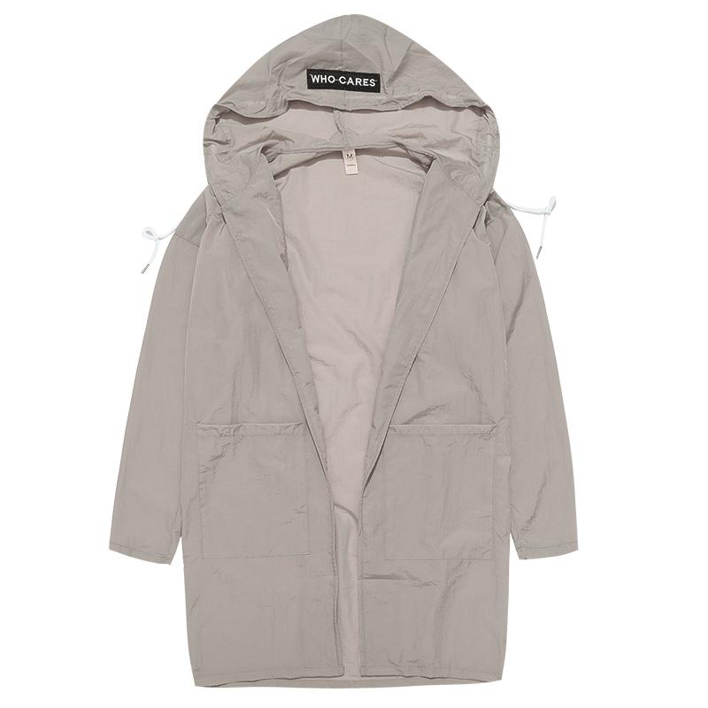 白色大码防晒衣情侣装外套韩版夏季中长款防晒服男女薄款皮肤衣服