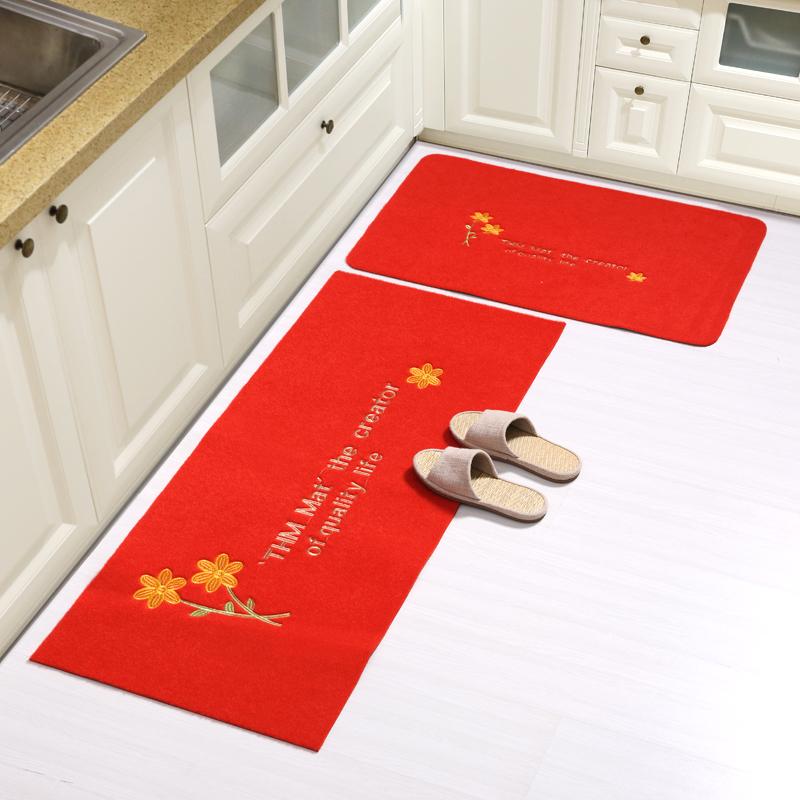 厨房地垫长条防油脚垫卫浴防滑门口吸水门垫地垫进门卧室家用定制