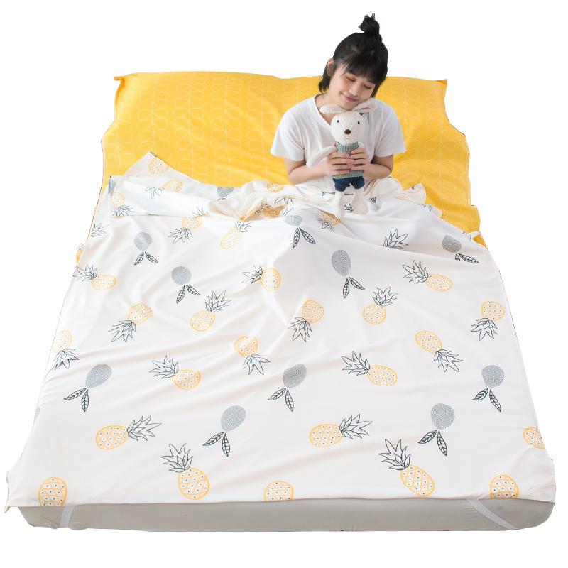 住酒店隔脏睡袋大人大人出差旅行宾馆床单被套单双人非纯棉便携式