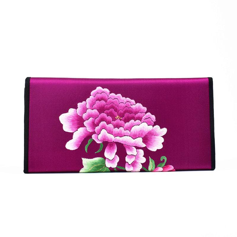 真丝手工苏刺绣钱包配旗袍中国风特色传统外事出国礼品送外国人的