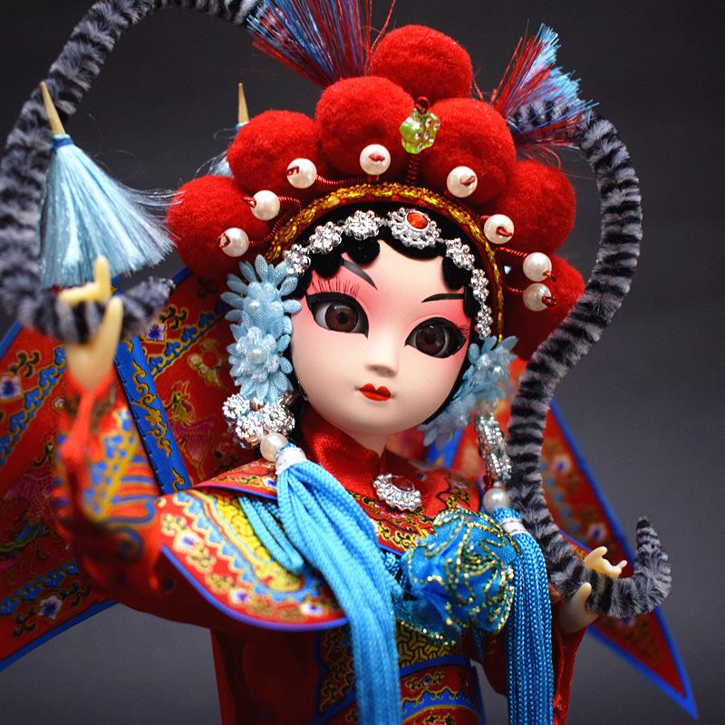 京剧娃娃宫廷绢人偶摆件传统纪念中国风特色外事出国礼品送老外