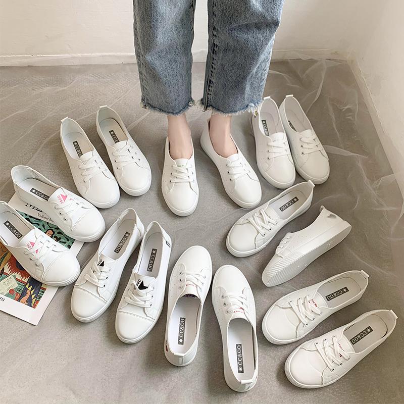 鞋子女2020新款夏季小白鞋女百搭一腳蹬透氣懶人鞋休閑鞋春款潮鞋