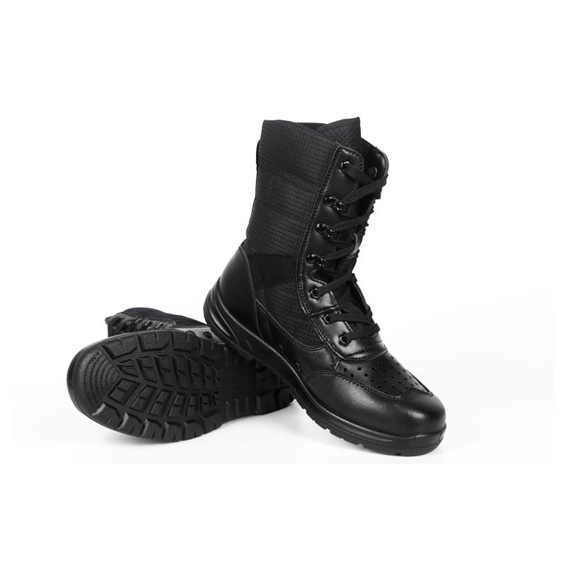超轻15阅兵靴cqb军靴07作战靴男特种兵战术软底真皮511作战靴包邮
