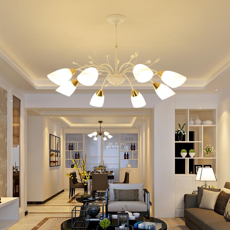 美式吊灯客厅大气家用铁艺现代简约卧室灯创意餐厅灯乡村田园灯具