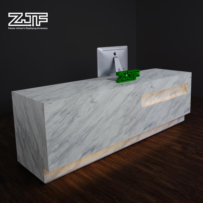 D2 仿石材迎宾台简约现代大理石收银台吧台 前台接待台 ZJF 众匠坊