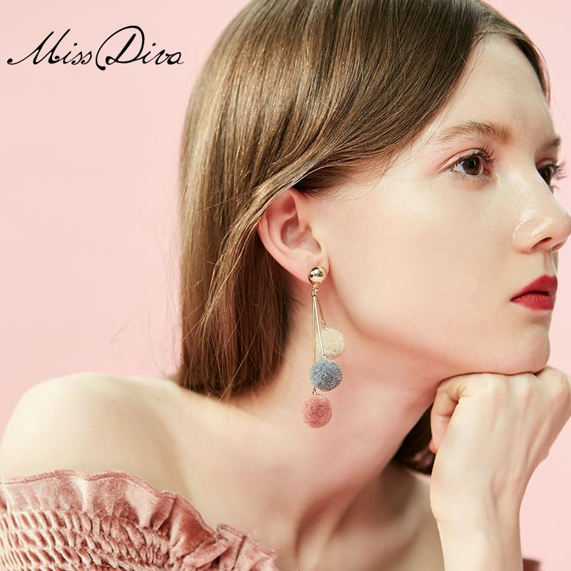 Ball Earrings Perm Women