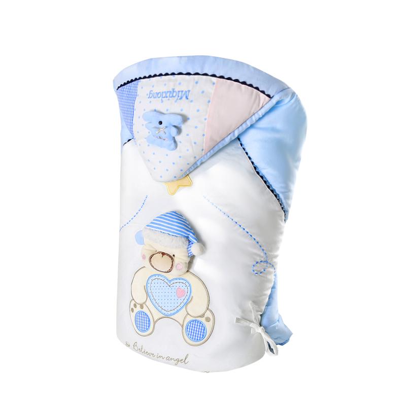 婴儿抱被纯棉初生宝宝用品产房睡袋四季秋冬加厚两用新生儿儿包被