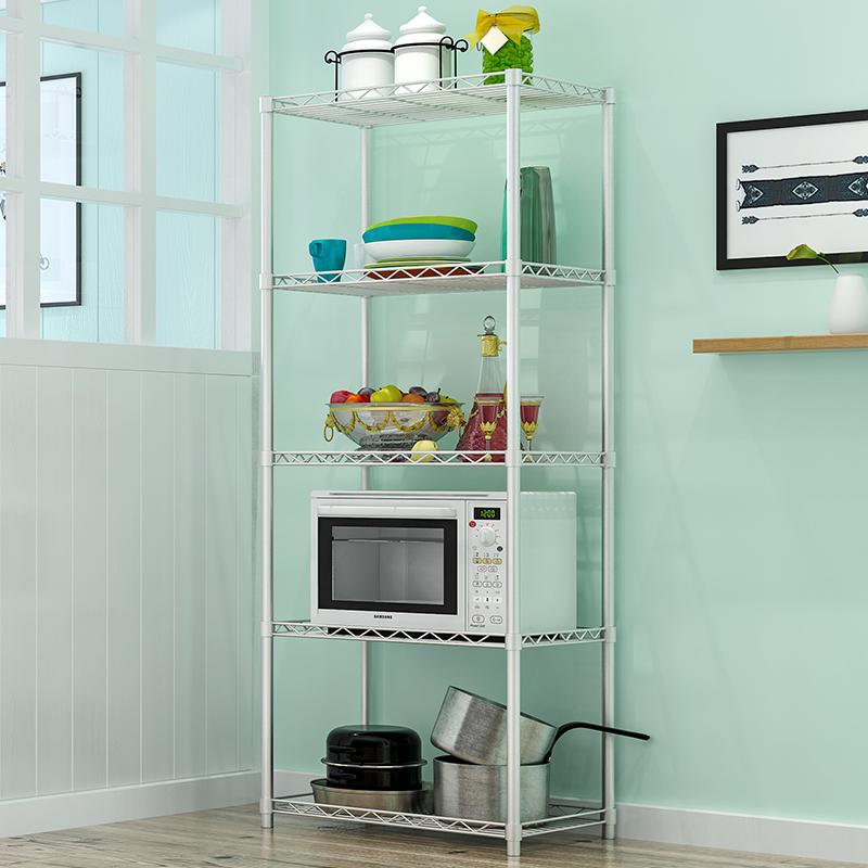 亞思特廚房置物架微波爐架落地多層省空間收納架子多功能儲物架
