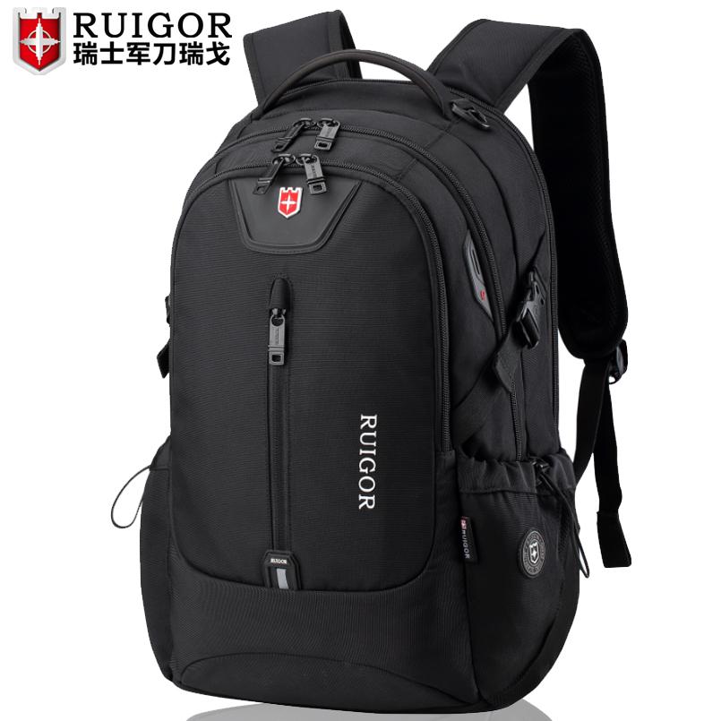 瑞士军士刀双肩包男大容量旅行包休闲女电脑背包初中高中学生书包