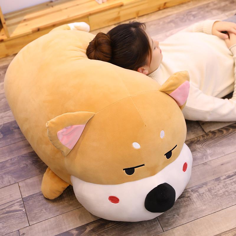 可爱柴犬玩偶公仔大趴趴狗毛绒玩具床上女生睡觉抱枕男生款布娃娃