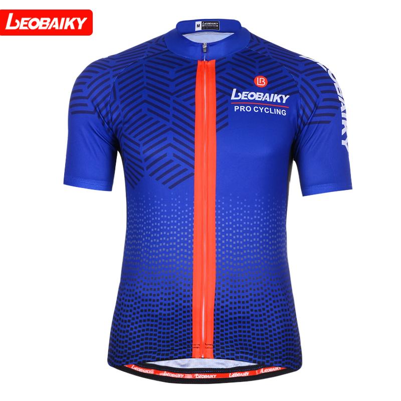 LEOBAIKY 短袖騎行服上衣男款 夏季山地自行車單車短上衣半袖衫