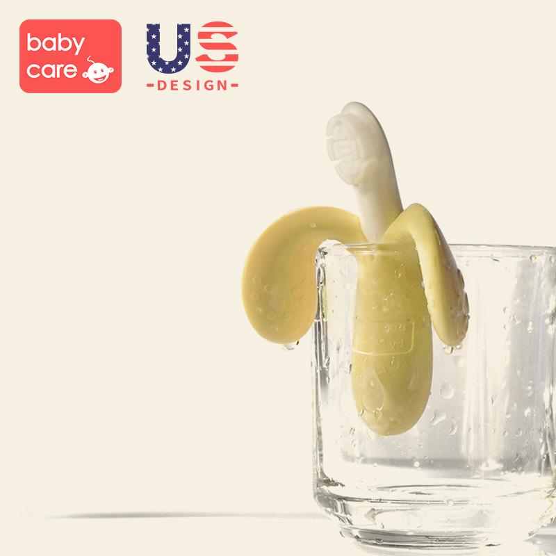 babycare婴儿牙胶 香蕉牙刷牙胶 硅胶磨牙棒宝宝咬咬胶