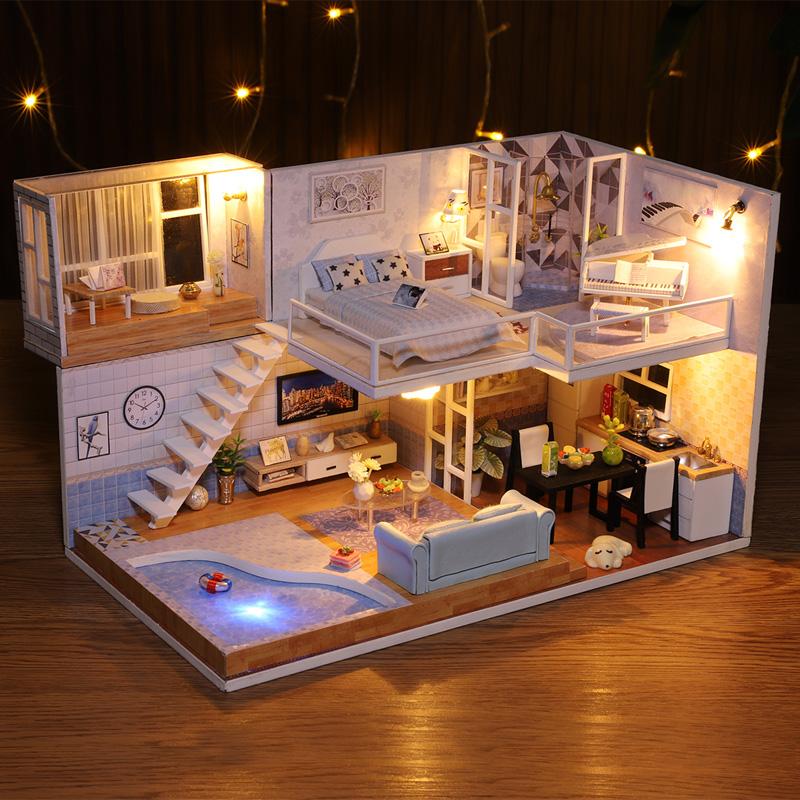 音乐盒八音盒diy手工木质模型天空之城创意生日礼物送女生女朋友