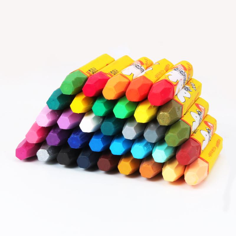 晨光36色油画棒宝宝蜡笔小学生用幼儿园儿童安全画笔36色可水洗考试画画彩笔套装批发