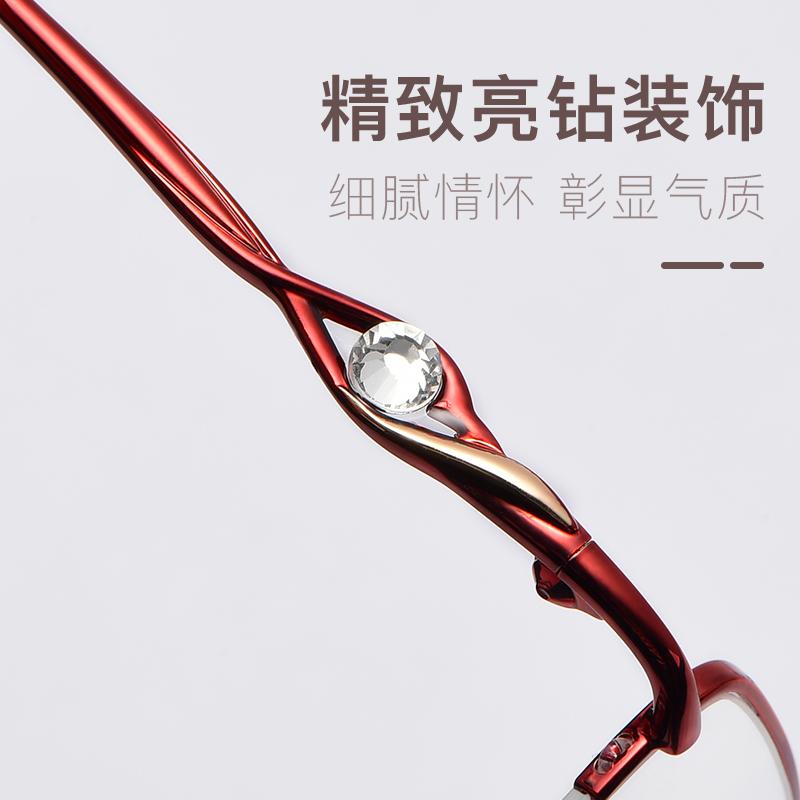 老花镜女时尚超轻树脂100 150 200度老花眼镜防疲劳舒适老光老人