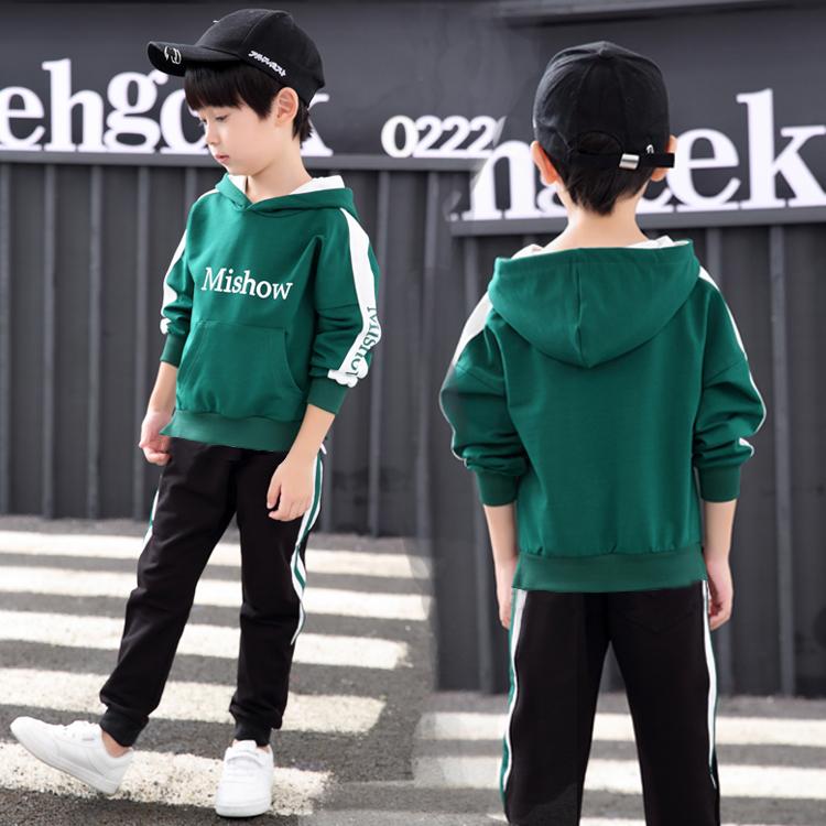 童装男童秋装套装2019新款春秋季中大儿童运动卫衣两件套韩版潮衣