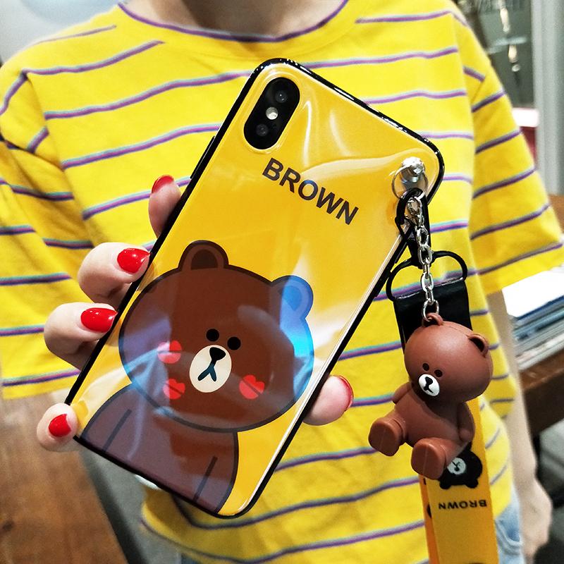 你是我的答案吴谨言白小鹿同款熊苹果iphone X苹果7plus手机壳