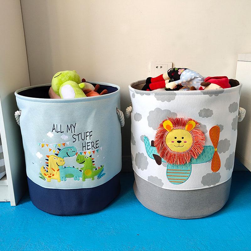 北欧脏衣篮家用脏衣服收纳筐布艺杂物衣篓可折叠装宝宝玩具收纳桶