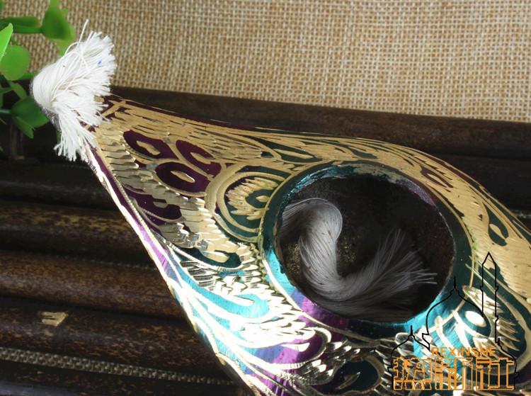印度巴基斯坦进口铜器 阿拉丁神灯 手工制作艺术铜制摆设摆件礼品