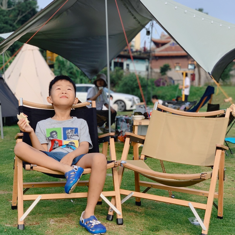 武椅户外实木折叠椅北欧简约克米特椅美式露营垂钓折叠椅 TNR