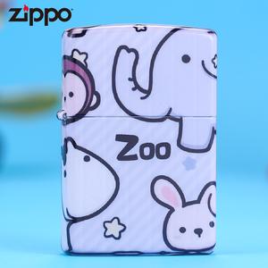 zippo芝宝正版打火机 zoo动物zoppo正品男创意防风煤油个性火机潮