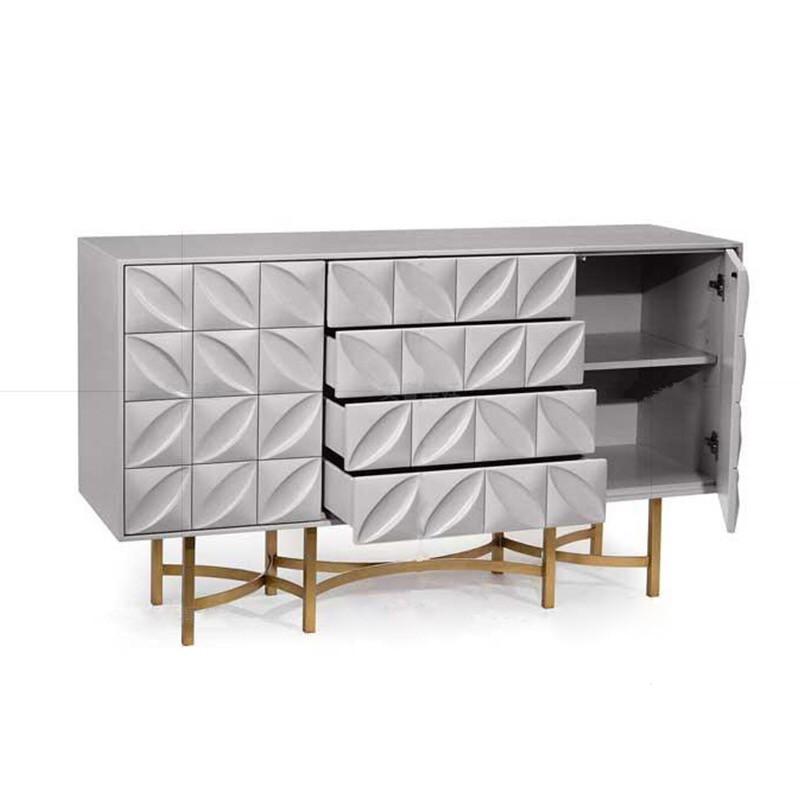 客厅餐边柜白色现代简约玄关柜隔断装饰储物柜北欧轻奢门厅柜