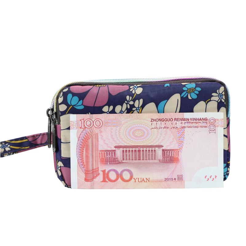 新款帆布长款钱包女手拿包女士手包大屏手机包袋手提钥匙零钱包
