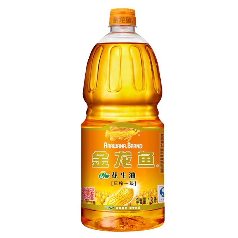 金龙鱼特香花生油1.8L物理压榨食用花生油