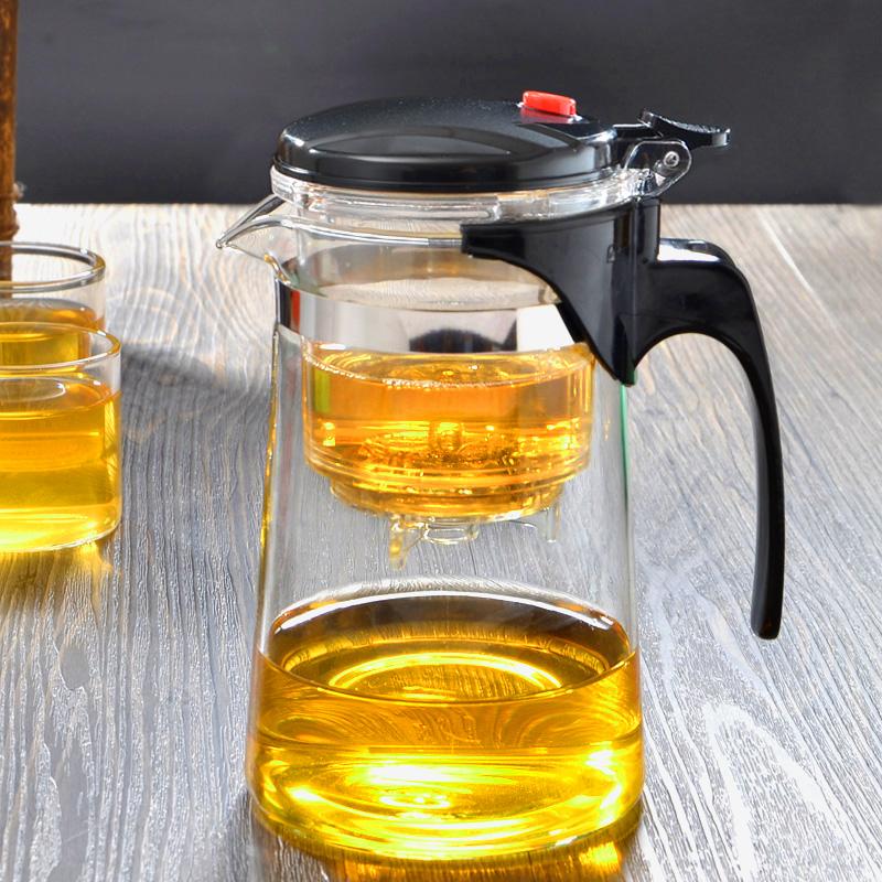 飄逸杯泡茶壺耐熱玻璃可拆洗花茶壺過濾玲瓏杯沖茶器紅茶具茶道杯