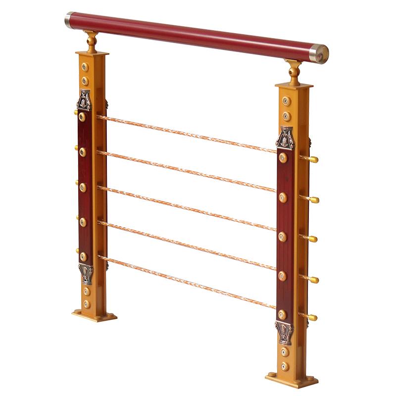 楼梯扶手铝合金立柱家用简约现代室内复式欧式阳台实木PVC护栏
