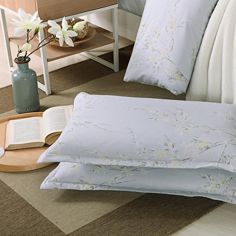 一缕阳光纯棉四件套全棉活性印染套件1.8m床上用品被套床单1.5 米