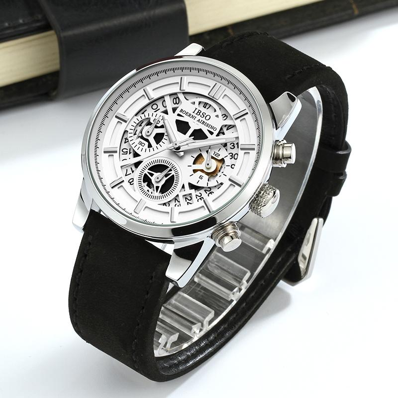 镂空设计多功能手表男学生防水男表石英个性潮流男士手表时尚新款