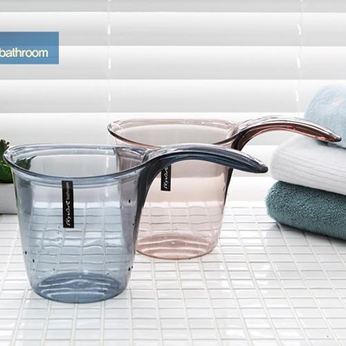 韩国进口塑料烹饪水勺厨房长柄水瓢水舀子沐浴水勺洗头杯洗澡浴勺