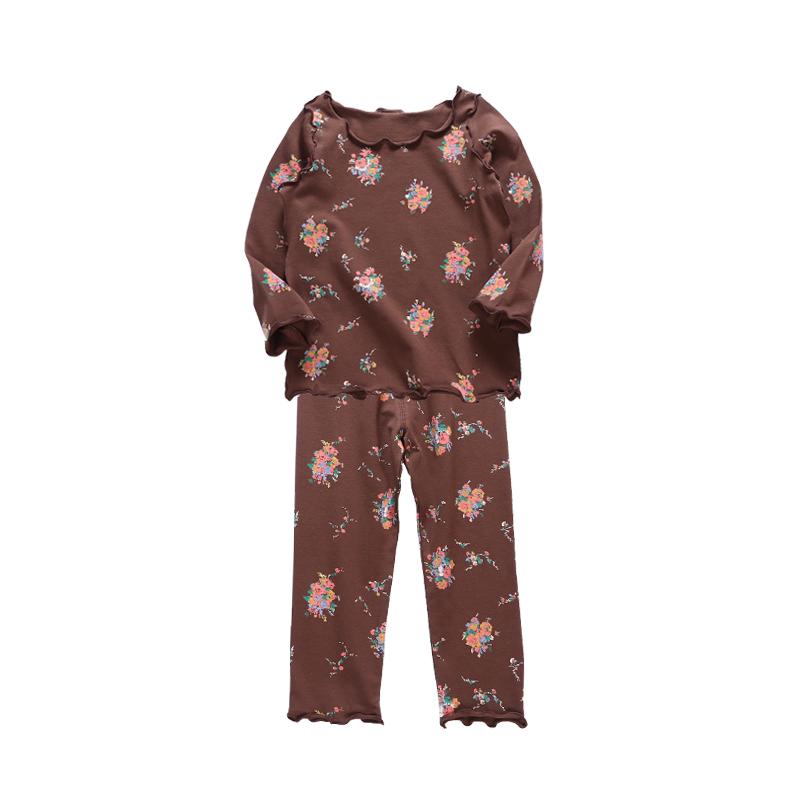 儿童睡衣女春秋纯棉套装长袖中小童男孩家居服宝宝薄款夏季空调服