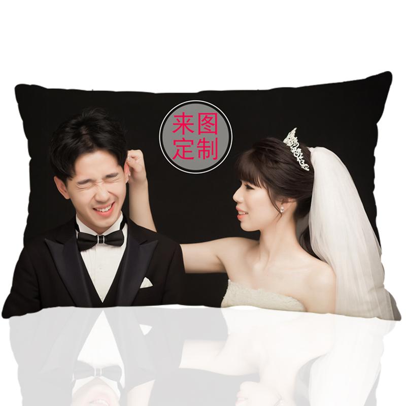 diy来图定做定制作抱枕可印照片真人双面图片靠枕头创意情侣礼物