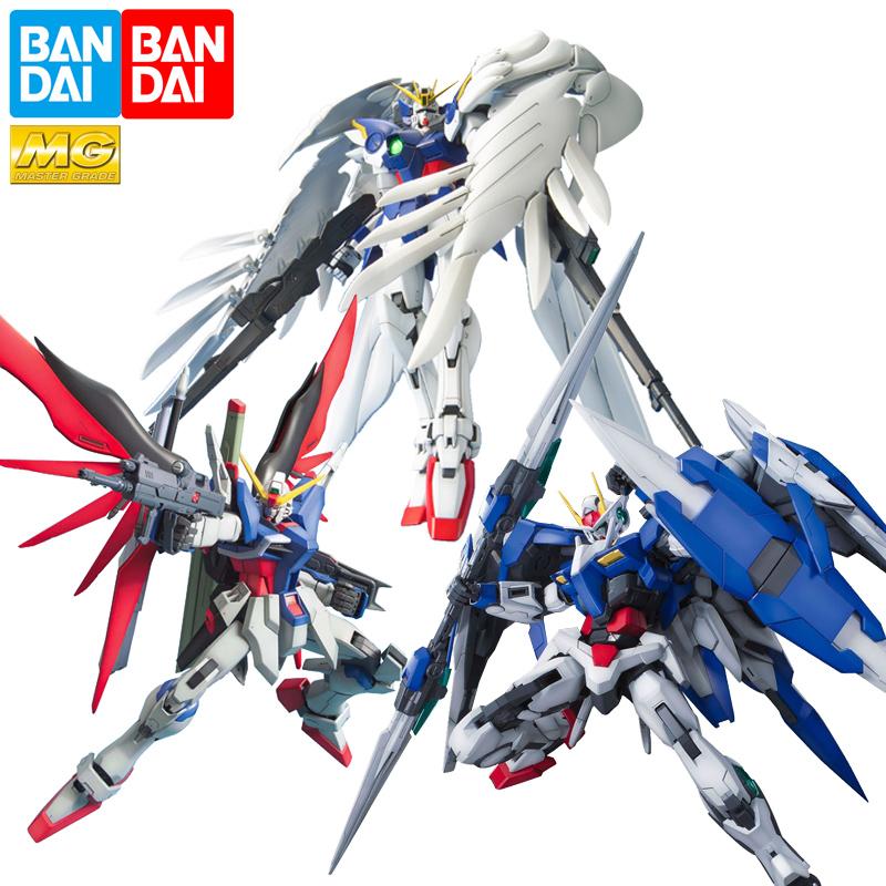 万代高达拼装模型 MG 蓝红色异端飞翼零式独角兽命运强袭自由00R
