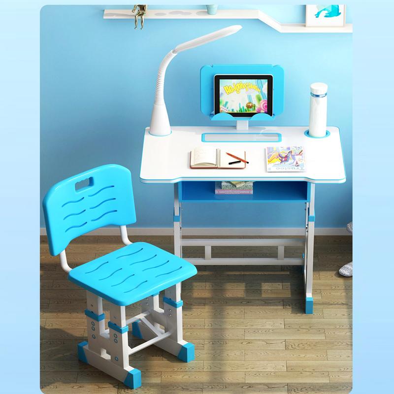 儿童书桌书柜组合男孩女孩家用可升降小学生学习桌写字课桌椅套装