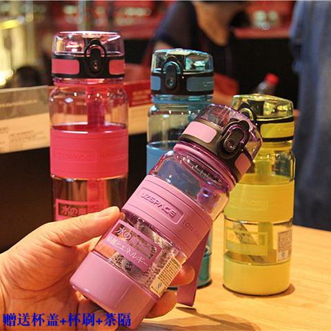 日本正品優之負離子大容量水杯進口塑料隨手便攜運動學生兒童水壺