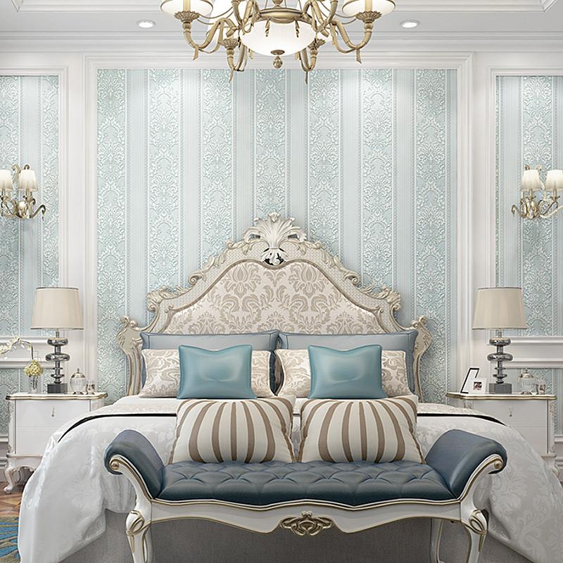 溢彩现代简约卧室3d立体竖条纹无纺布墙纸客厅欧式电视背景墙壁纸