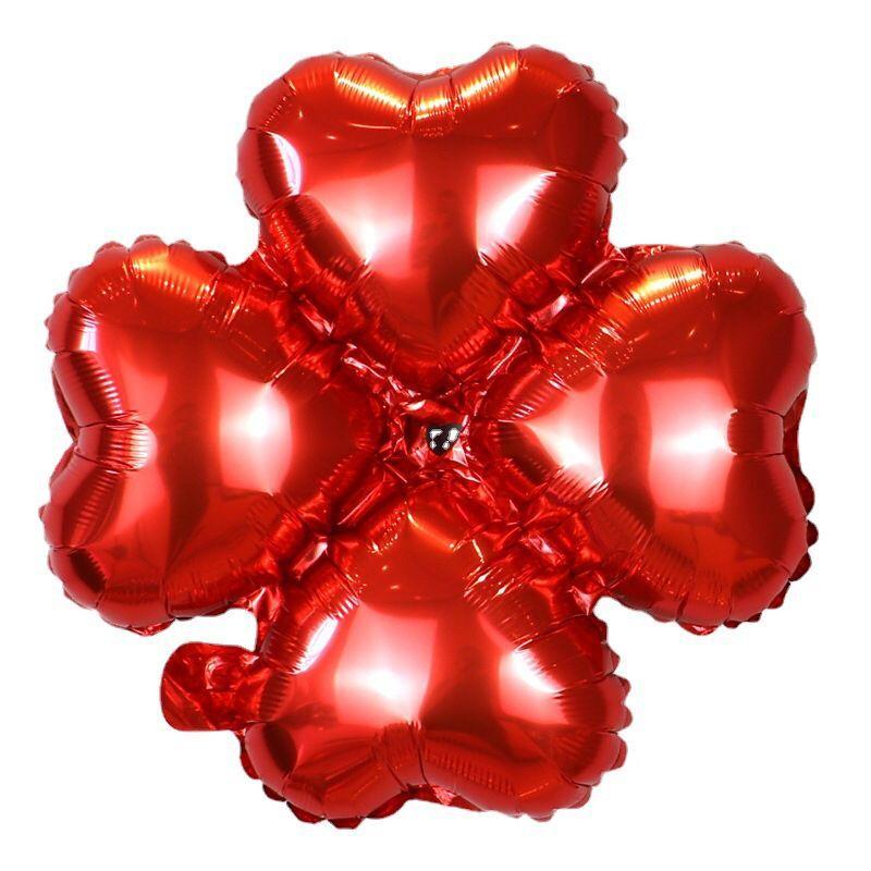 四叶草铝膜气球拱门装饰结婚铝箔开业庆典派对生日装饰心形气球