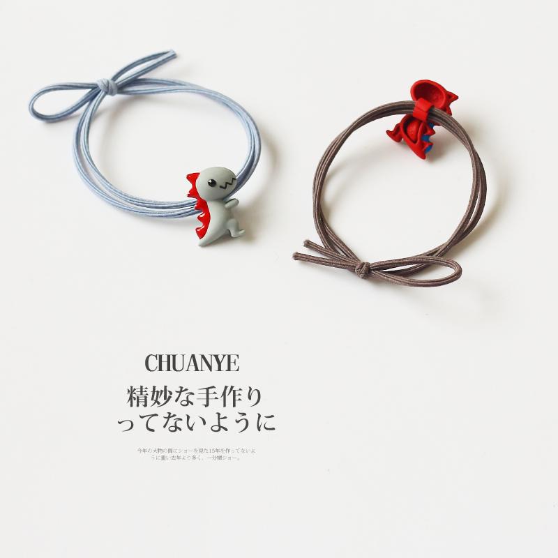 韓國可愛小恐龍發圈簡約少女發繩ins網紅頭繩emijay橡皮筋頭飾女