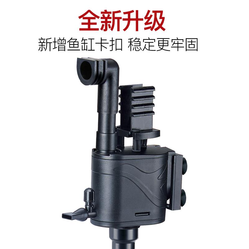 鱼缸过滤器潜水泵三合一静音增氧过滤泵过滤设备水族箱小型冲氧泵