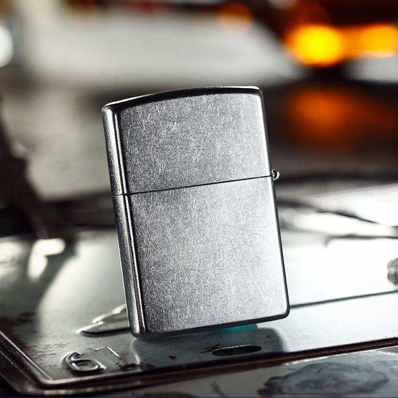 打火机zippo正版 原装镀铬花砂哈雷美国传奇20229 芝宝收藏礼品