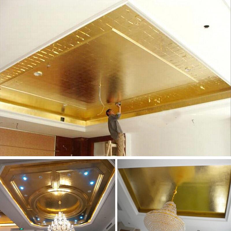 金线牌金箔纸装饰仿金铂装修装饰银箔纸家具贴顶金铂台湾A金美甲