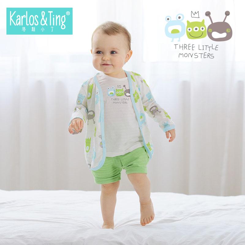 洛斯小丁21年新款婴儿开衫春夏季薄款空调衫男童女宝宝防晒衣服装