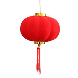 结婚庆用品植绒小灯笼挂饰大红户外室内树上盆景装饰节日场景布置